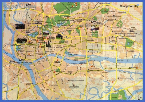 awesome Guangzhou Map Tourist Attractions Tours Maps Pinterest