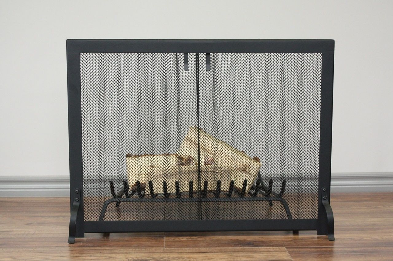 Fireplace Screen - Anvil Fireside - HERITAGE Curtain Mesh Screen, $350.00  (http:/ - HERITAGE Curtain Mesh Screen Fireplaces, Curtains And Mesh