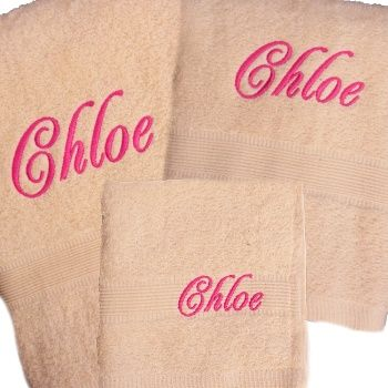 Personalised Towel Set 3pc Egyptian Cotton Bath Towels Set Personalized Towels Personalized Towels Kids Embroidered Bath Towels