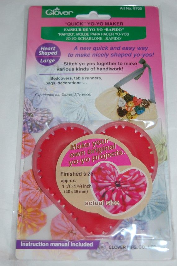 Clover 8705 Large Heart Shaped YoYo maker
