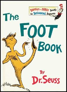 """""""The Foot Book"""" teaches students about opposites (e.g., tall/short, big/little, nice/mean, etc.). We then walked around the room and tried to find our own opposites! Please download the attached homework and accompanying activity."""