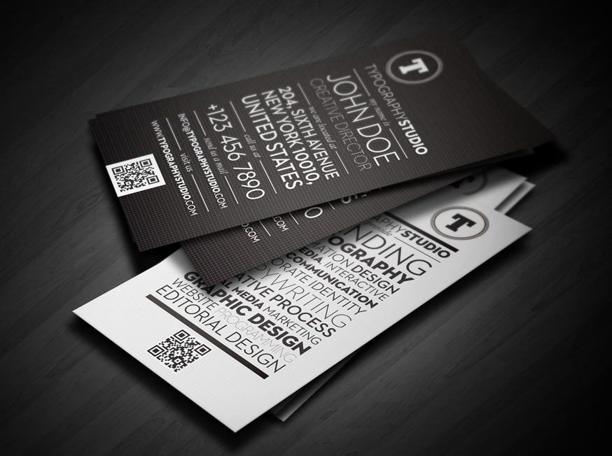 Typographic business cards | Just type | Pinterest | Business cards ...