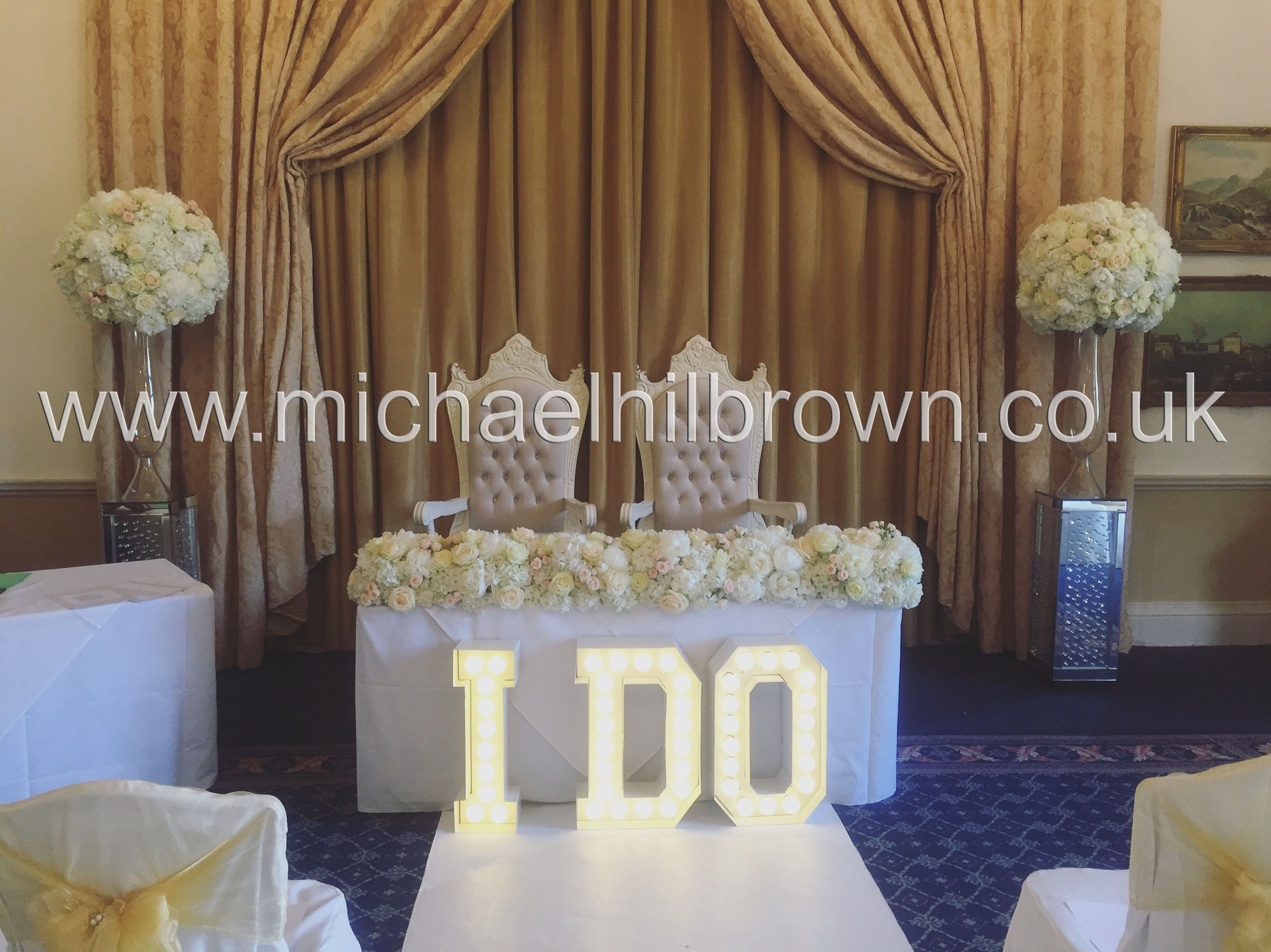 Opulent Wedding Ceremony Flowers By Michael Hilbrown Used Hydrangea Peony Roses Country House HotelsCountry