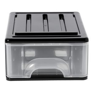 of with drawers x storage photo stackable clear plastic chest