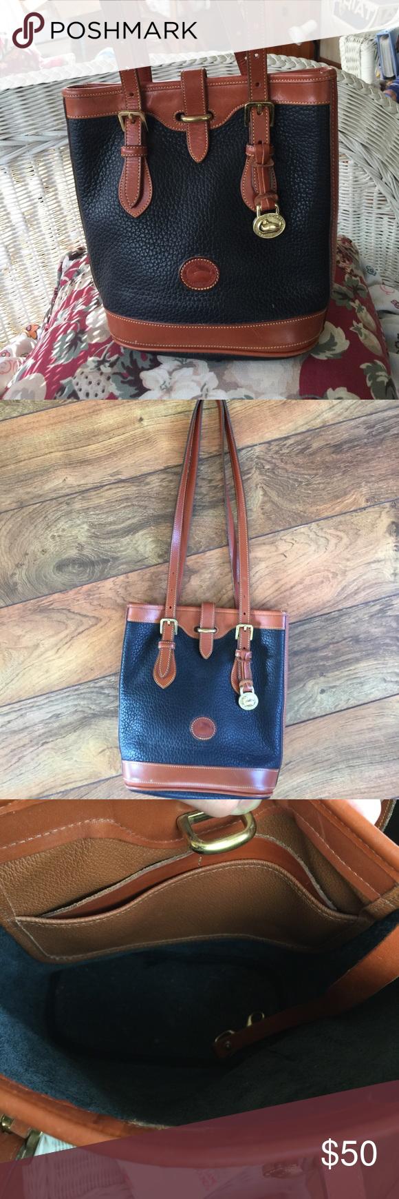 44b650ce3f Vintage Downey   Bourke Bucket Bag Genuine leather smaller bucket bag.  Excellent condition. Dooney   Bourke Bags Shoulder Bags