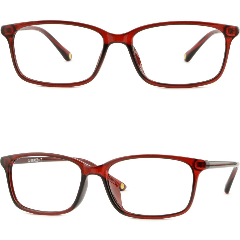 Thin Light Bendable Plastic Frame Men Women Rectangular Prescription ...