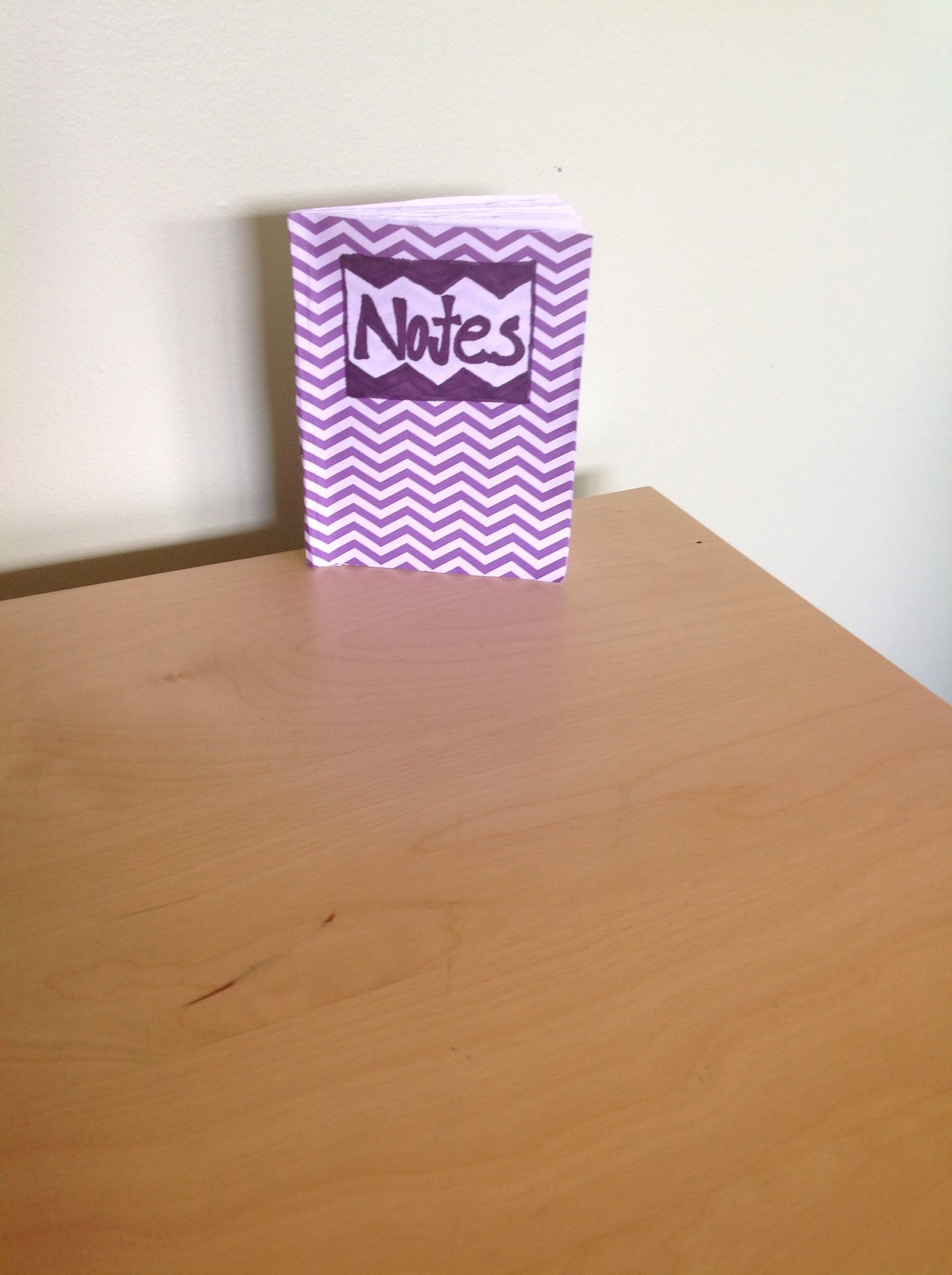 Fold 5 papers staple cut the closed edges and take decorated paper glue on and make label customize you own!