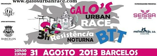 Desporto │Galos Urban Race │31 de Agosto │20h30 │Barcelos