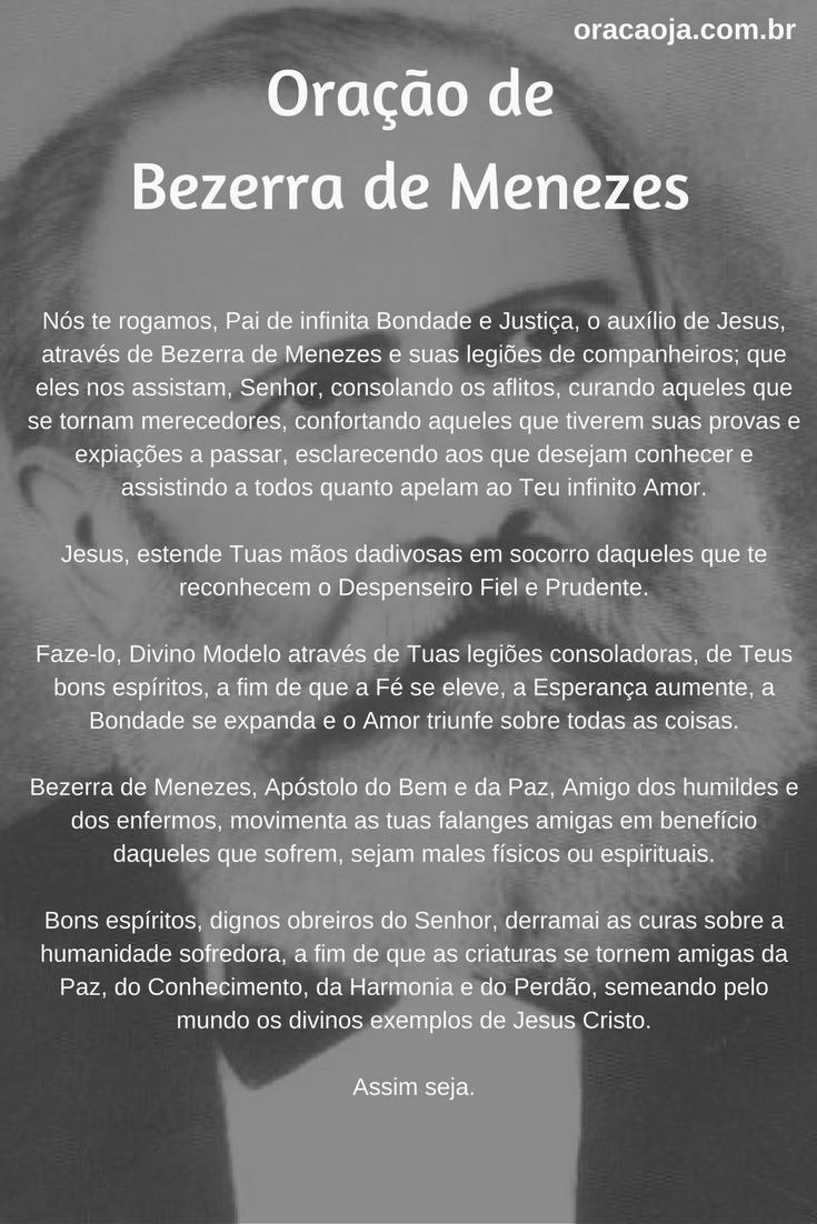 Conhecido Oração de Bezerra de Menezes #oracaoja #oração | CATEQUESE  JM12