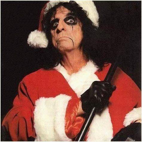 Christmas Alice Cooper Santa Clause Music Rock Memes Alice Cooper Shock Rock Joe Perry