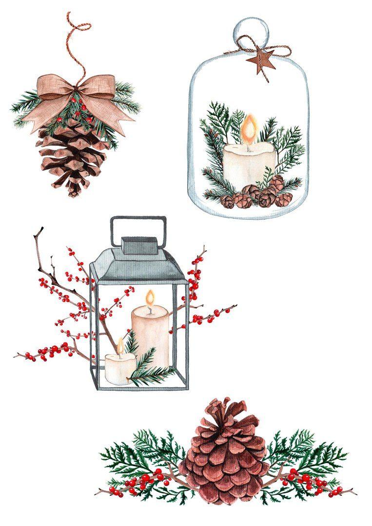 Скрапбукинг (с изображениями) | Рождественские иллюстрации ...