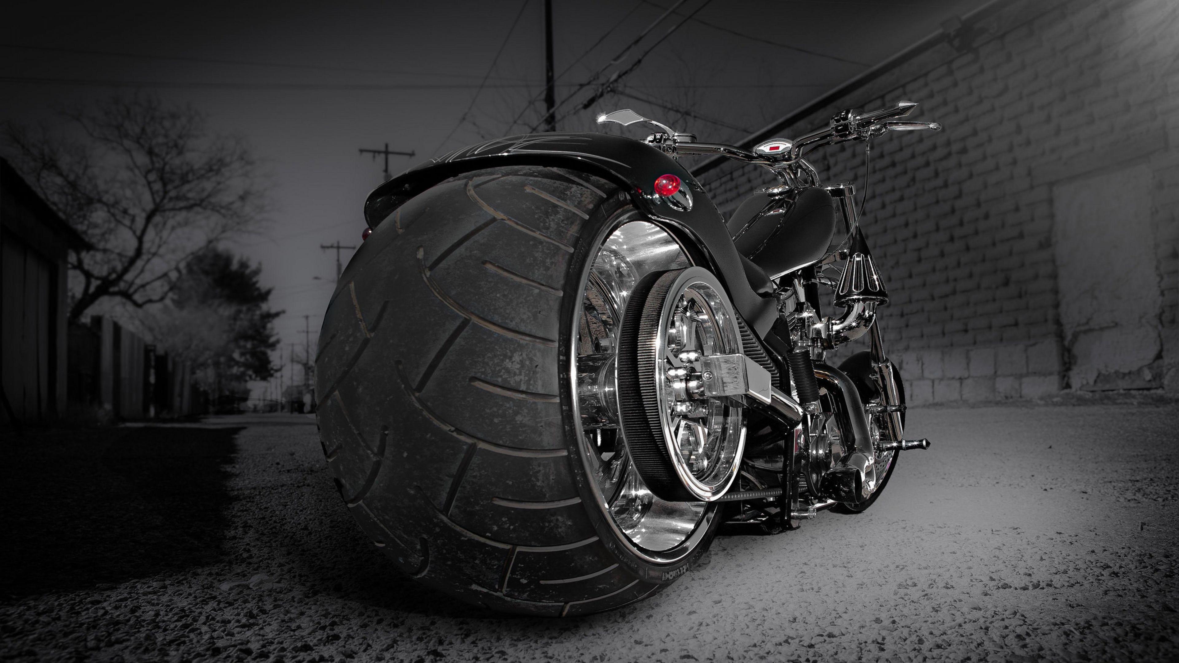 3840x2160 Wallpaper Motorcycle Bike Chopper Sports Style
