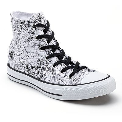 e631a7d7303b Converse All Star Women s Floral High-Top Sneakers White High Top Sneakers