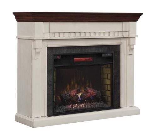Mayville Wall Mantel In Weathered White At Menards Weathered