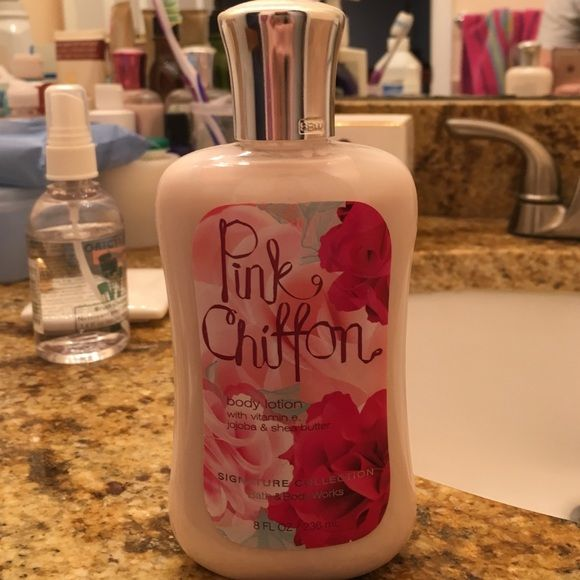 Pink Chiffon Body Lotion Never used before. Smells really good! Bath & Body Works Other