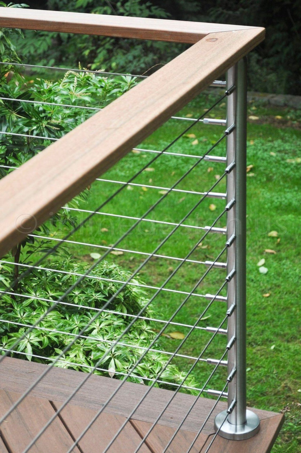 Greg - WA - Modern Stainless Steel Cable and Glass Railing ...