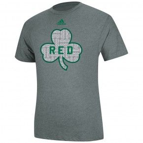 huge selection of 9d91a 7de05 adidas Celtics Red Auerbach Parquet T-Shirt [Heather Grey ...
