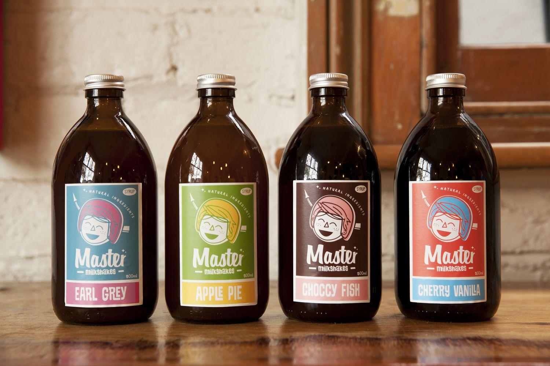 Master Milkshakes Drinks packaging design, Milkshake