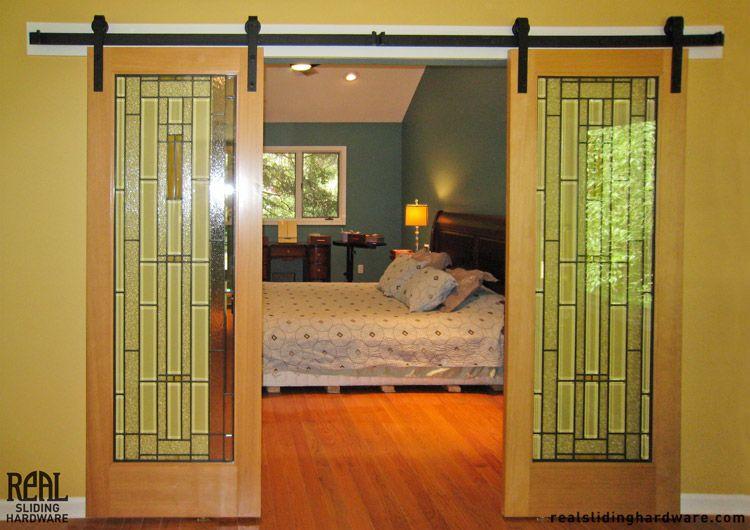 Guest bedroom art glass sliding doors den office ideas - Bedroom with sliding glass doors ...
