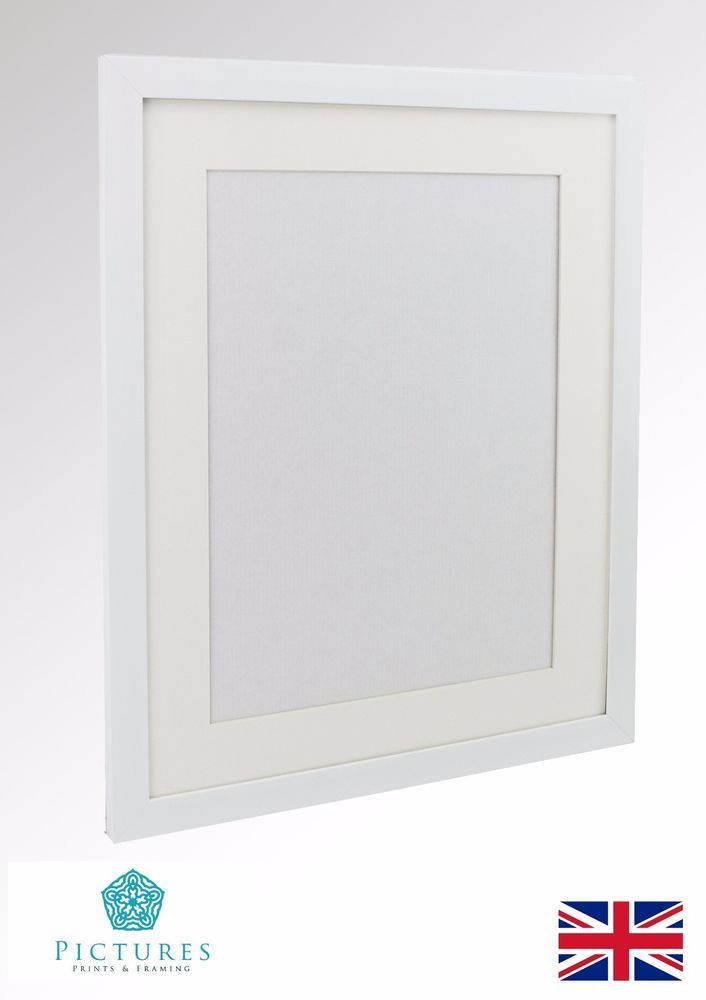 White Photo Picture Poster Panoramic Frame and MOUNTS 28mm Range ...