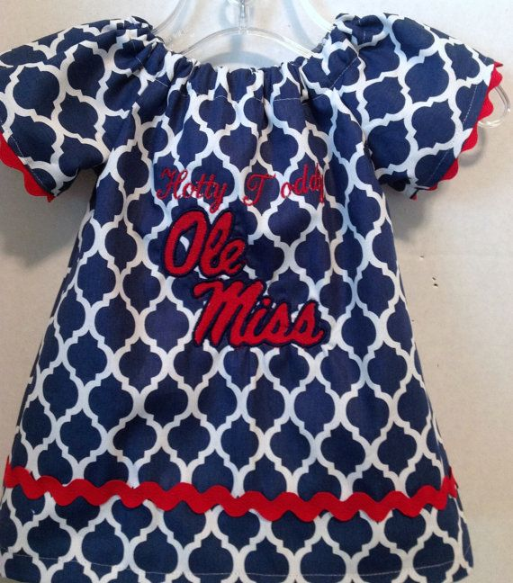 0382593b1 Ole Miss hotty toddy peasant style dress with by Meemeescorner, $30.00