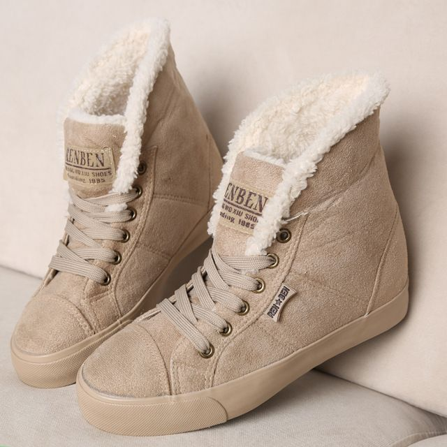 New fashion fur female warm ankle boots women boots snow boots and ...