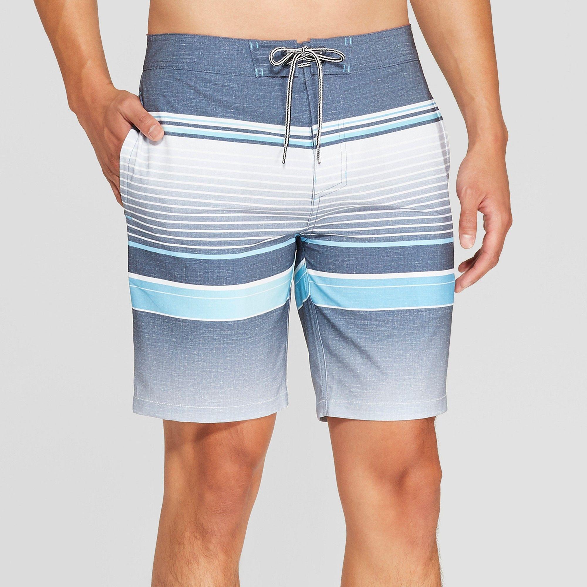 cc3810d0d4 Men's 8.5 Striped Bojack Board Shorts - Goodfellow & Co Indigo 36, Blue
