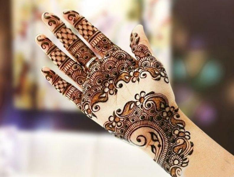 Front Hand Henna Mehndi Design : New geometric mehndi design for front of hands