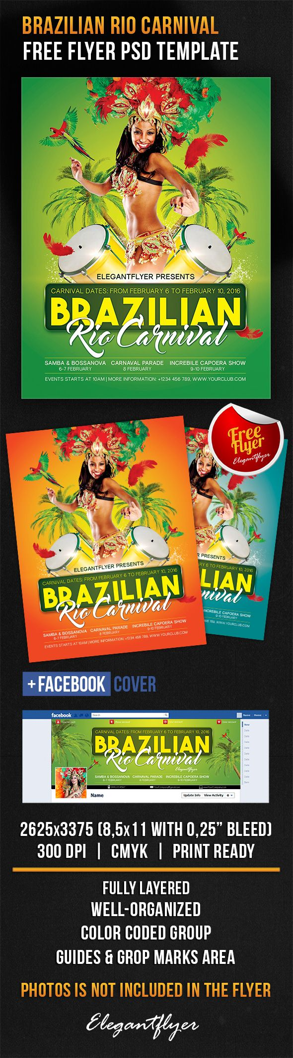 Music Flyer For Brazilian Rio Carnival Rio Pinterest Carnaval