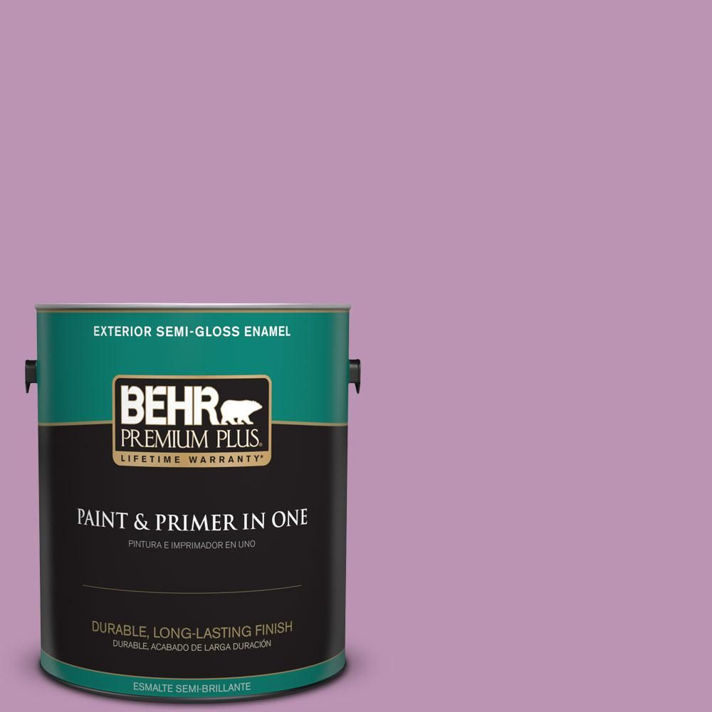 BEHR Premium Plus Home Decorators Collection 1-gal. #hdc-MD-10 Blooming Lilac Semi-Gloss Enamel Exterior Paint