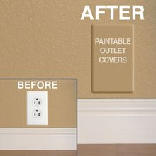 Paintable Switch Plate Outlet Covers