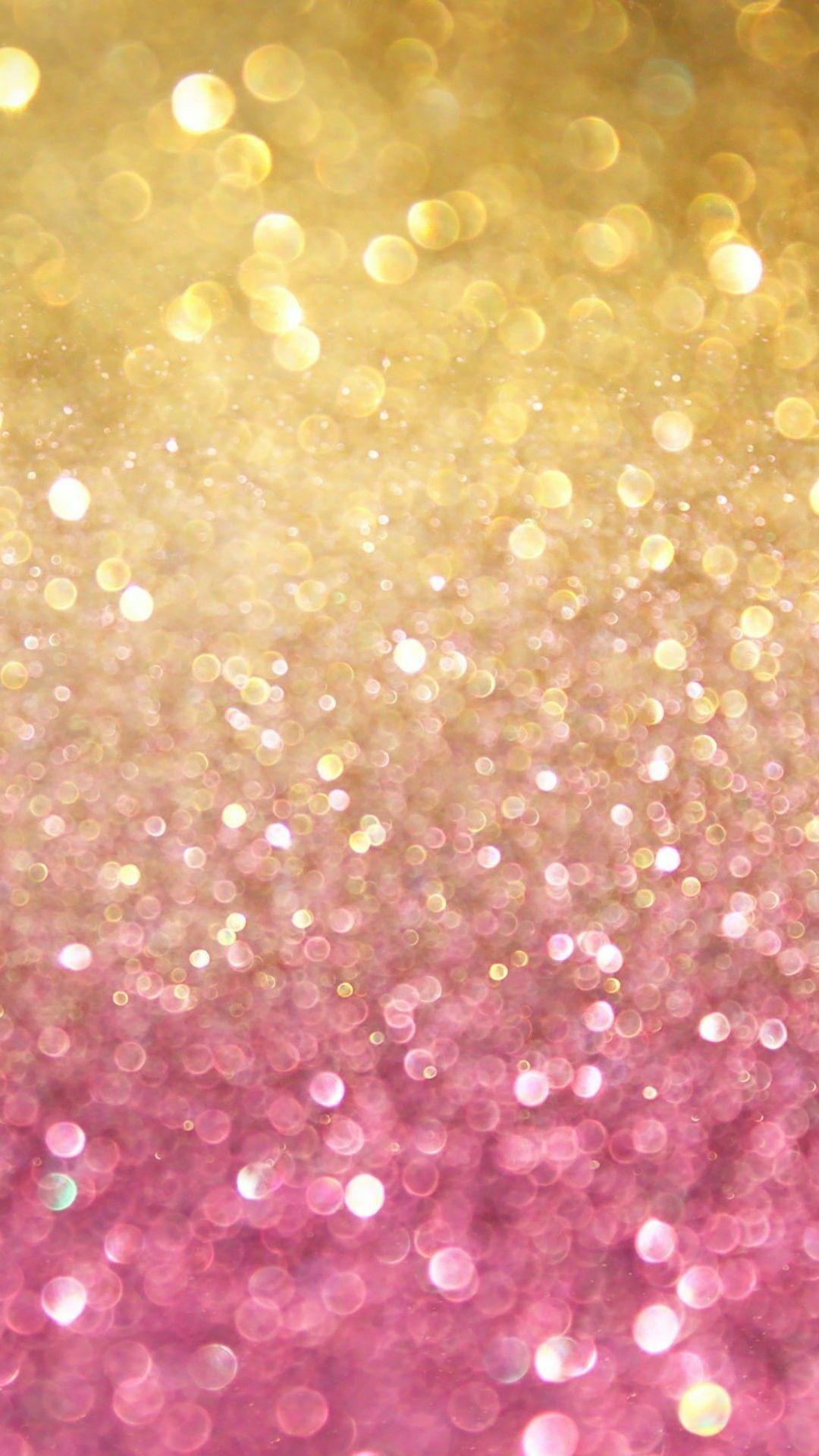 Pink/Gold | Iphone wallpaper glitter, Glitter phone ...