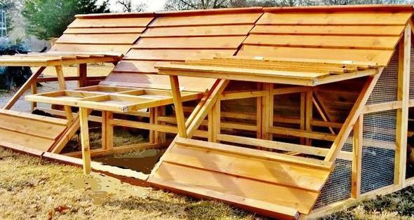 Large Portable Chicken Coop For 20 To 30 Chickens Portable Chicken Coop Chicken Coop Building A Chicken Coop