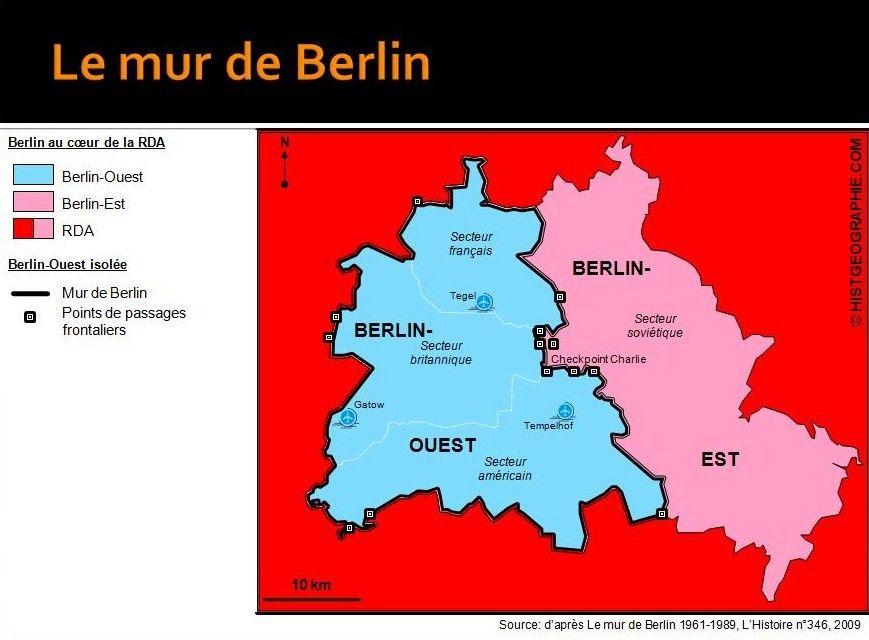 Le Mur De Berlin 1961 1989 Isolant Berlin Ouest Long De 155 Km