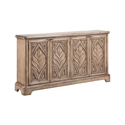 13346 Reynolda Console In Rubbed Antique Console Cabinet