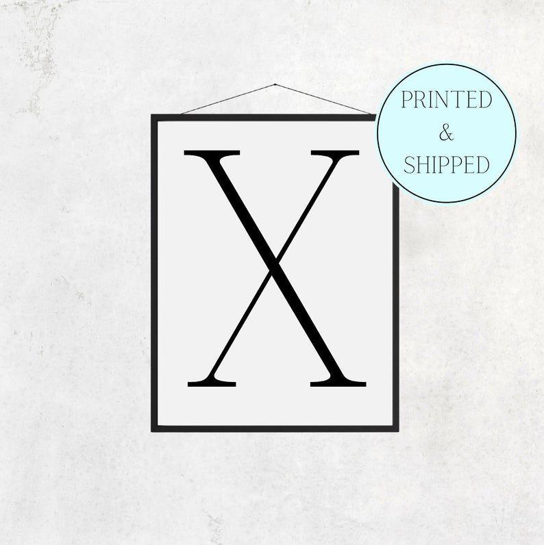 X Print Letter X Print Alphabet Print Letter Print Simple   Etsy
