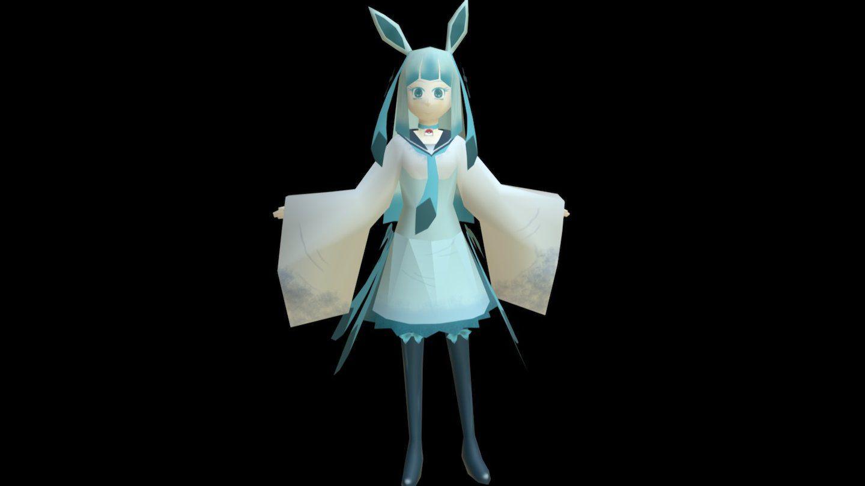 Glaceon human form Pokemon by anteja