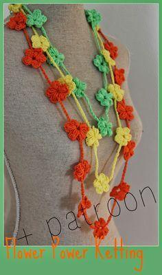 Dinah Creatief Bloemen Ketting Haken Foto Diy Haken Pinterest