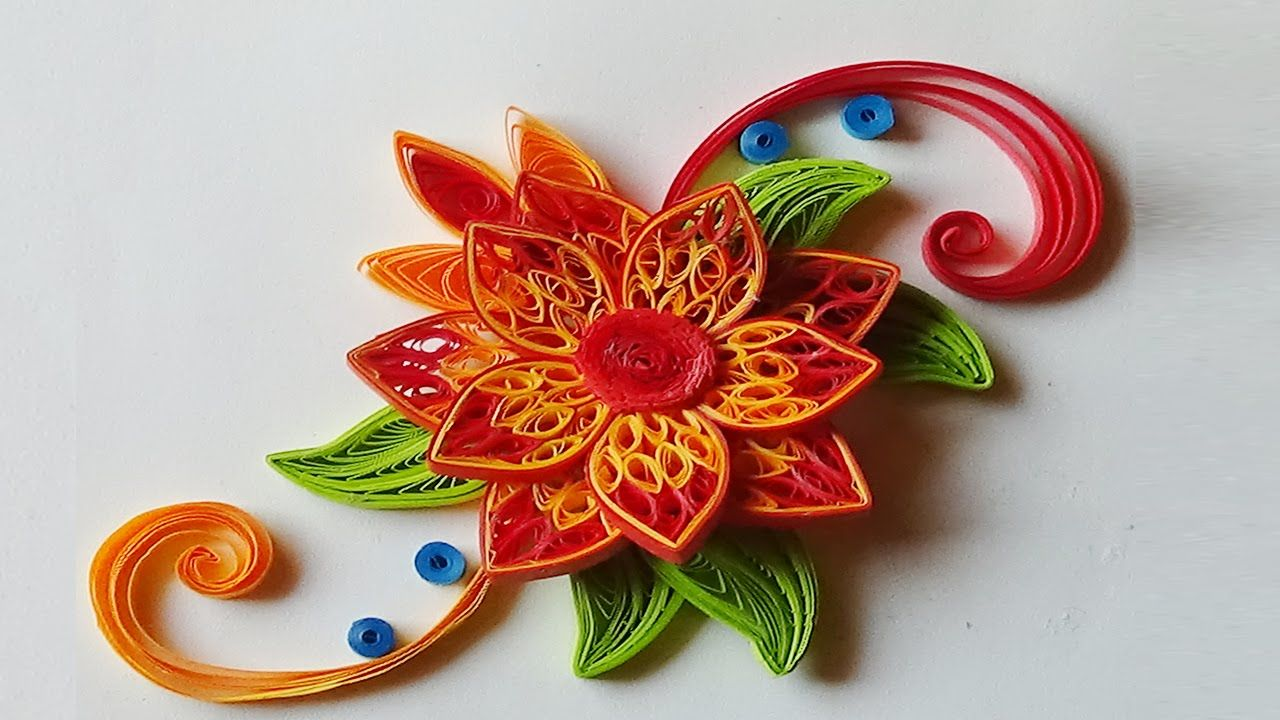 Paper Quillinghow To Make Beautiful Quilling Orangered Flower
