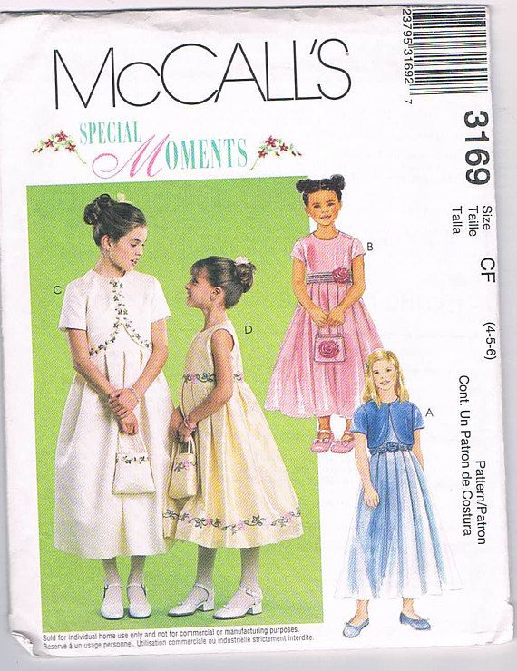 McCall\'s 3169 Special Moments Girls/Children\'s Dress | Sewing ...