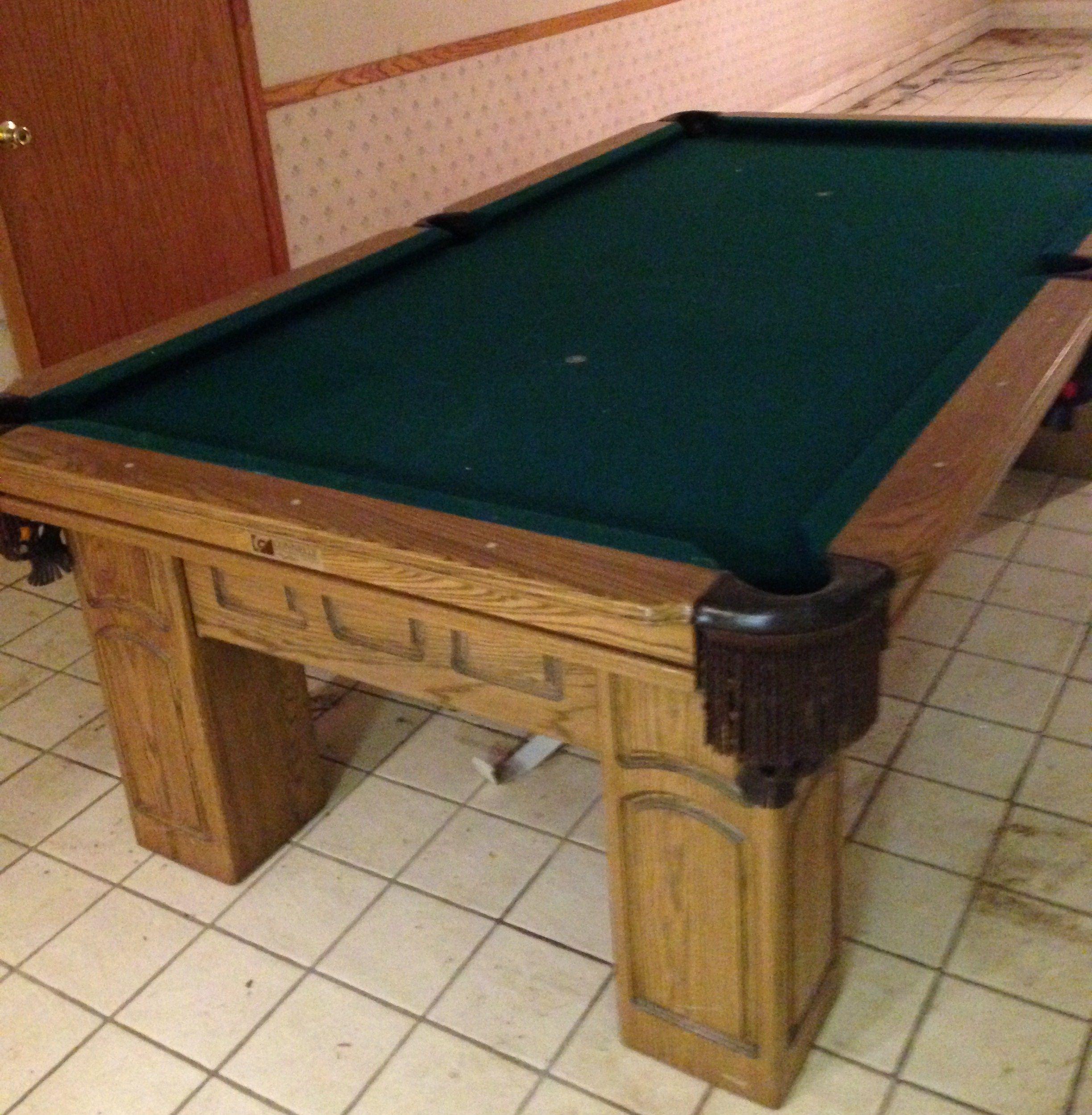 Billiards Pool Table For Sale Solid Wood Genuine Slate