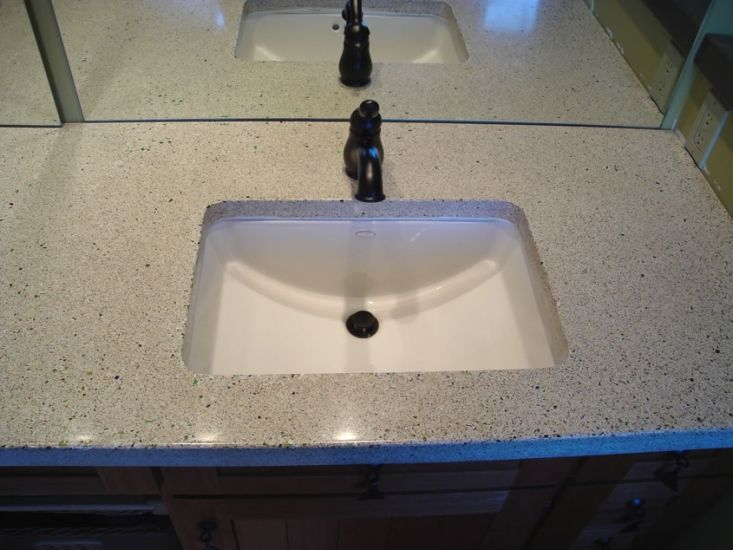 corian bathroom sinks and countertops concrete is perfectly suited rh pinterest com
