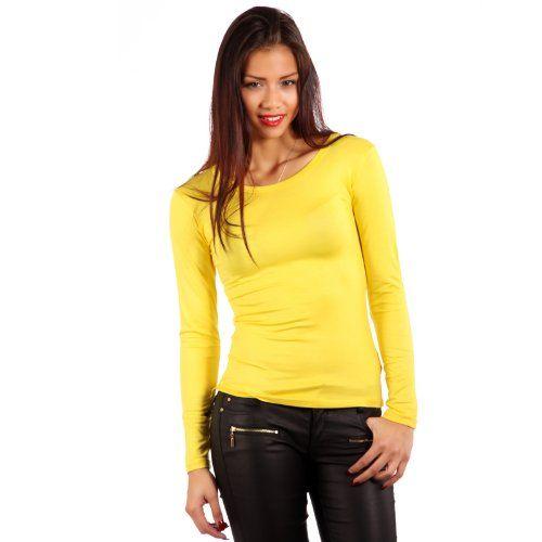 best sneakers 17e12 f7be5 Young Fashion Basic Shirt Longsleeve Langarm Shirt Damen (38 ...