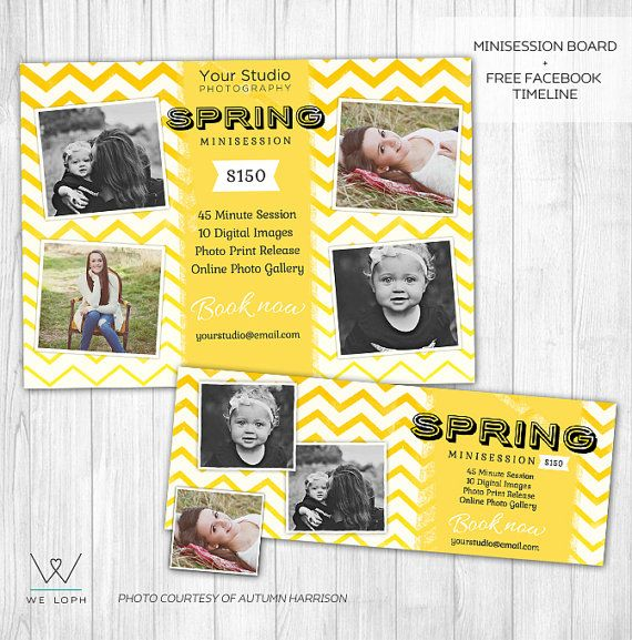 Spring Mini Session Marketing Board Template for Photographers +