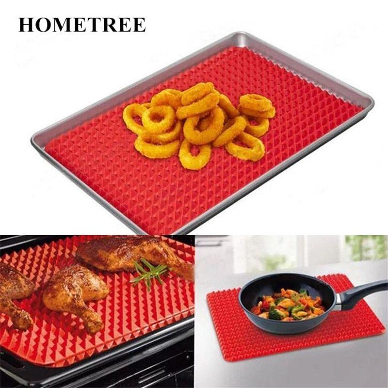 Honetree Home Use Red Pyramid Bakeware Pan Nonstick Silicone Baking Mats Pad Moulds Mat Oven Baking Tray Sheet Kitchen Tool H366 Review Con Imagenes Accesorios De Cocina Cocinas Placas