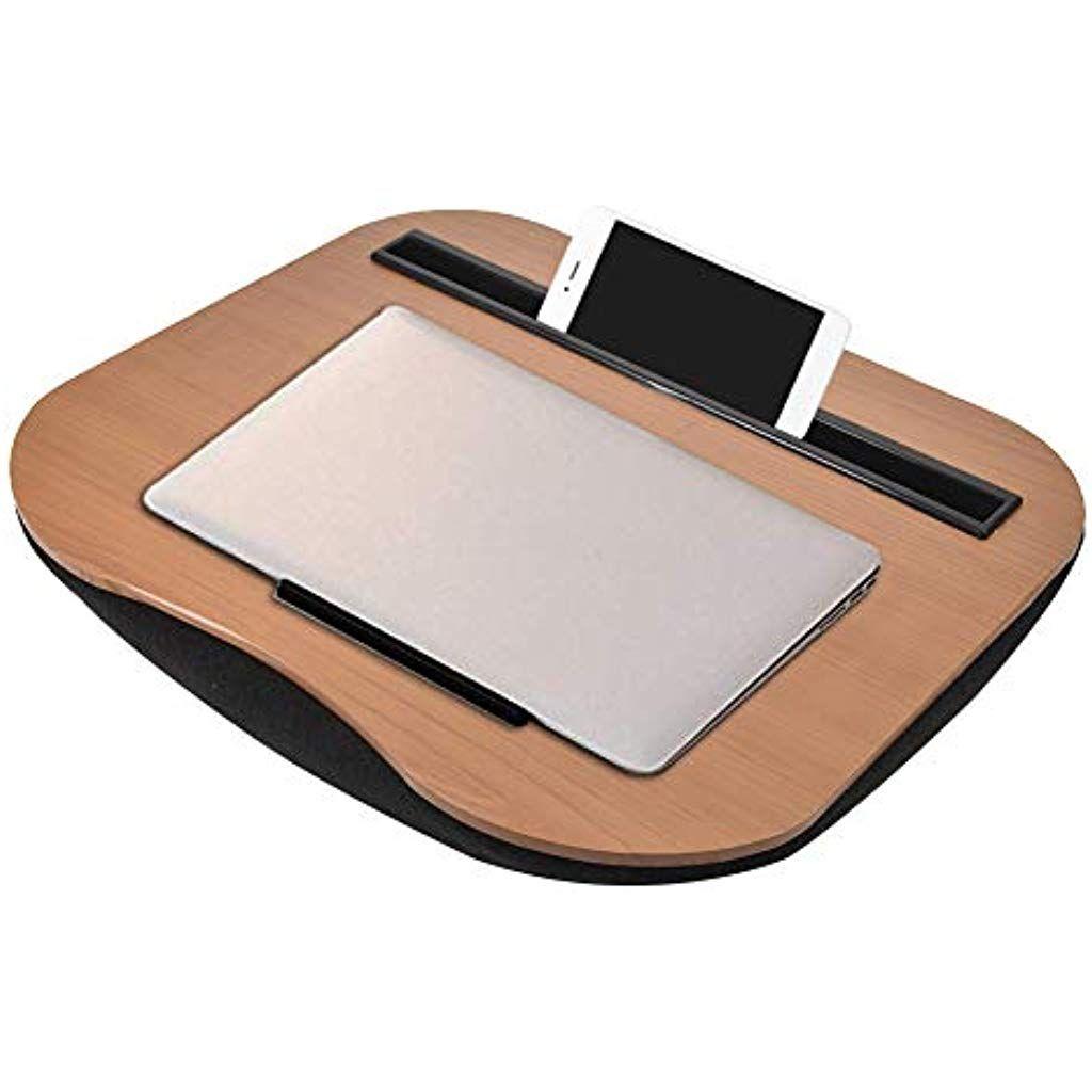 Strety Laptoptisch Aus Bambus Lap Desk Gepolstert Mit Kissen