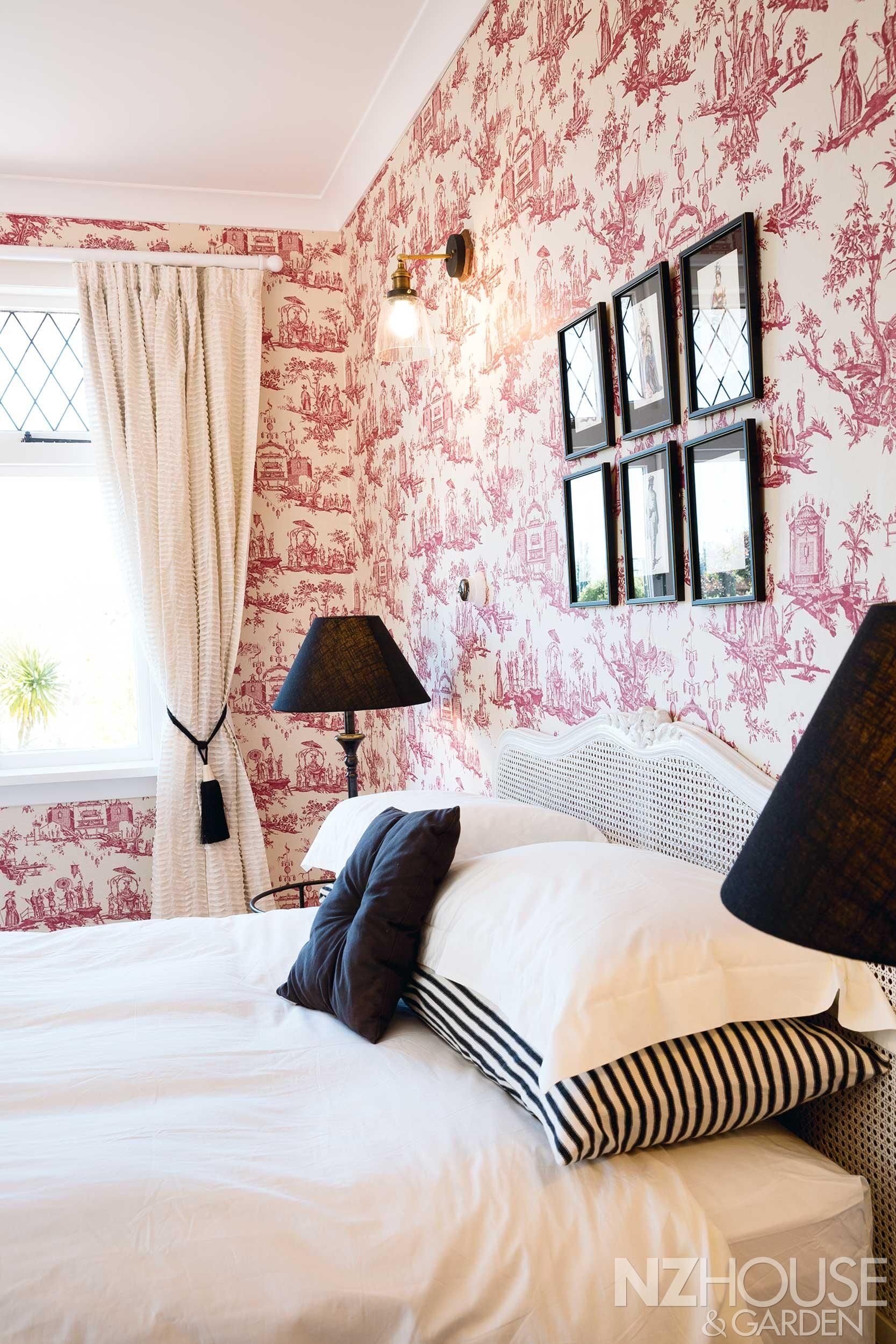 The Red Toile Wallpaper In The Guest Room Has Been Known To Polarise  Opinion: U201cBut,u201d Says Rebecca, U201cIu0027m At That Age And Stage Where Youu0027ve Got  To Have A ...