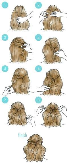 Easy Updos For Shoulder Length Hair Length Shoulder Updos Medium Length Hair Styles Medium Hair Styles Diy Wedding Hair