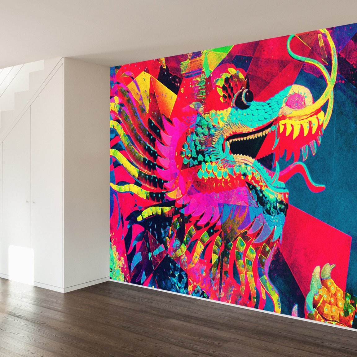 Dragon Wall Mural Wall murals, Art furniture, Wall murials