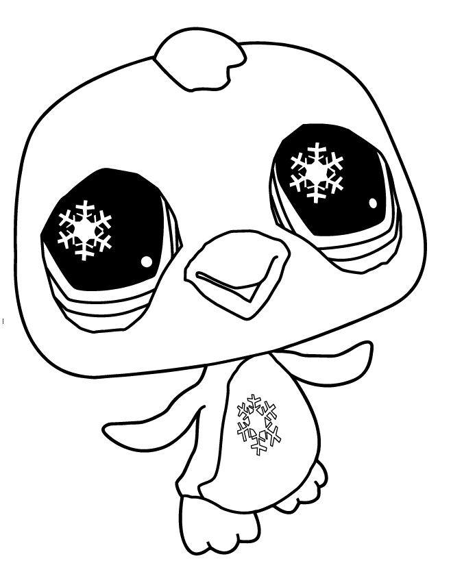 pages littlest pet shop penguin coloring pages kids coloring pages - Littlest Pet Shop Coloring Pages